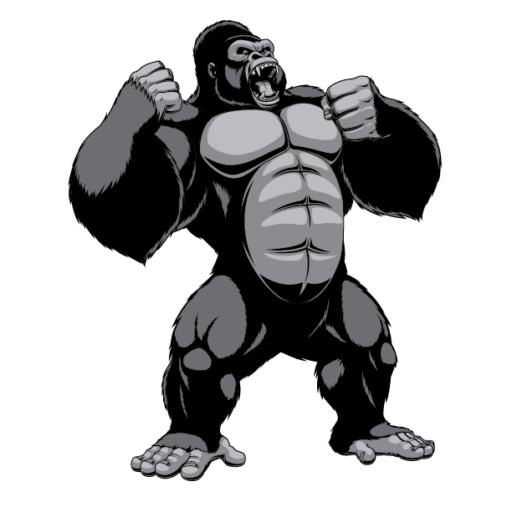 vector freeuse library Original lineage . Ape clipart bodybuilding