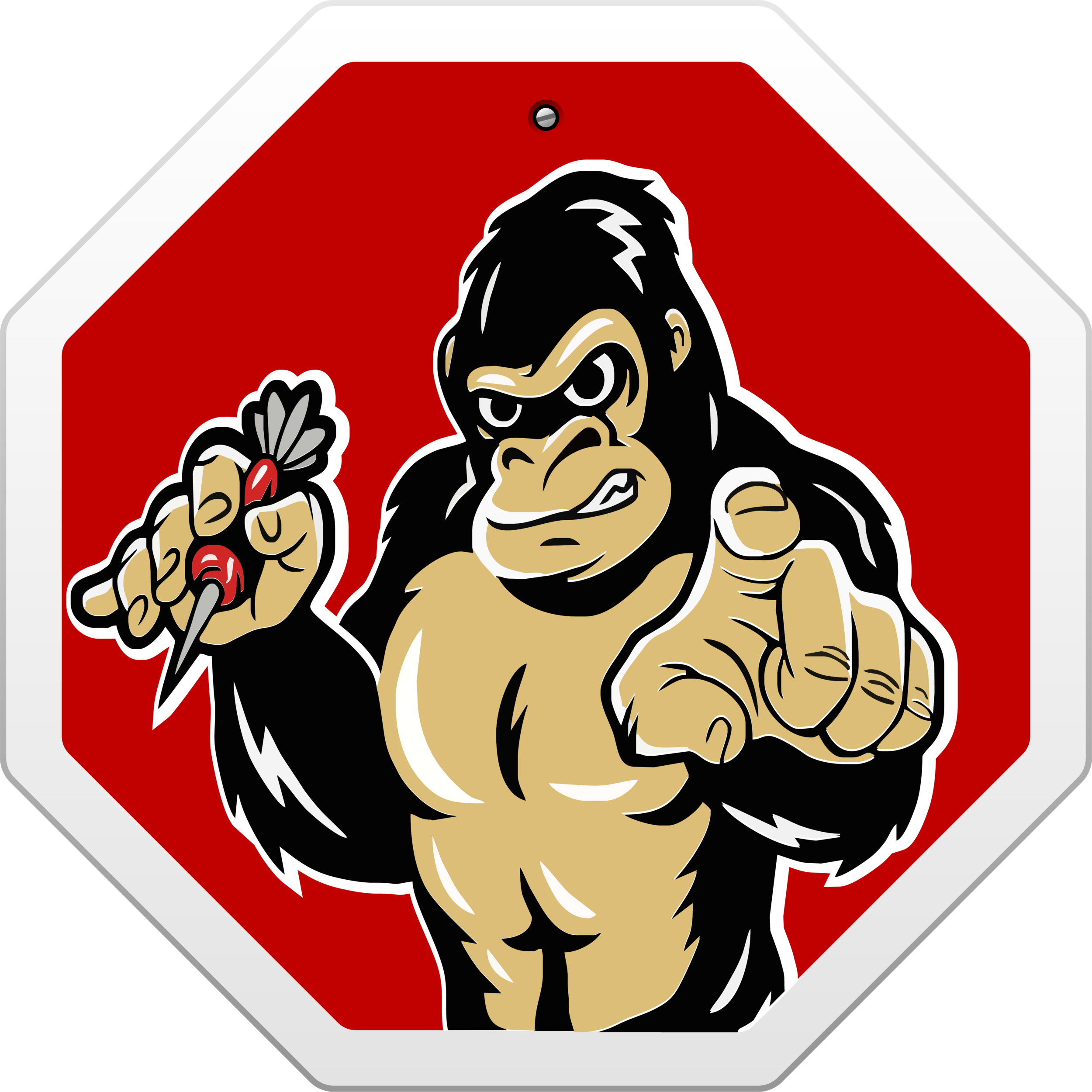 graphic freeuse stock Ape clipart bodybuilding. Stop monkeying with your