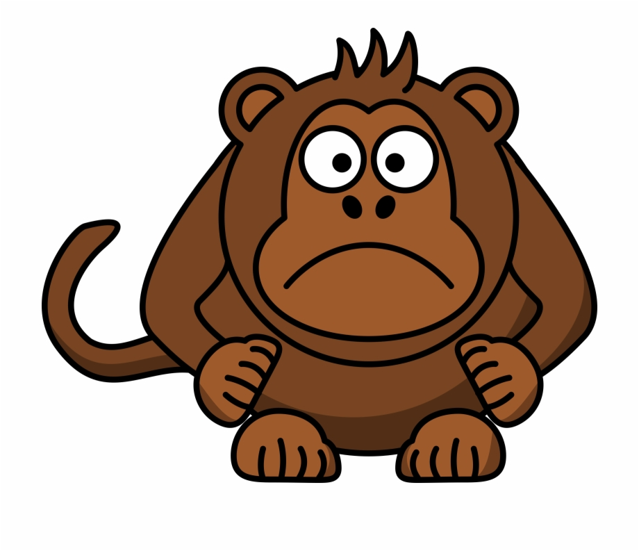 clipart royalty free library Gorilla monkey cartoon no. Ape clipart brown