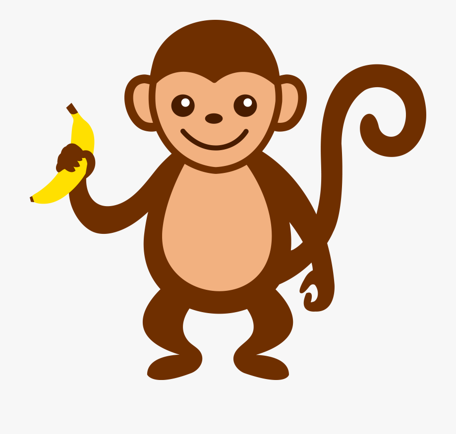 picture freeuse download Ape clipart brown. Monkey transparent cartoon