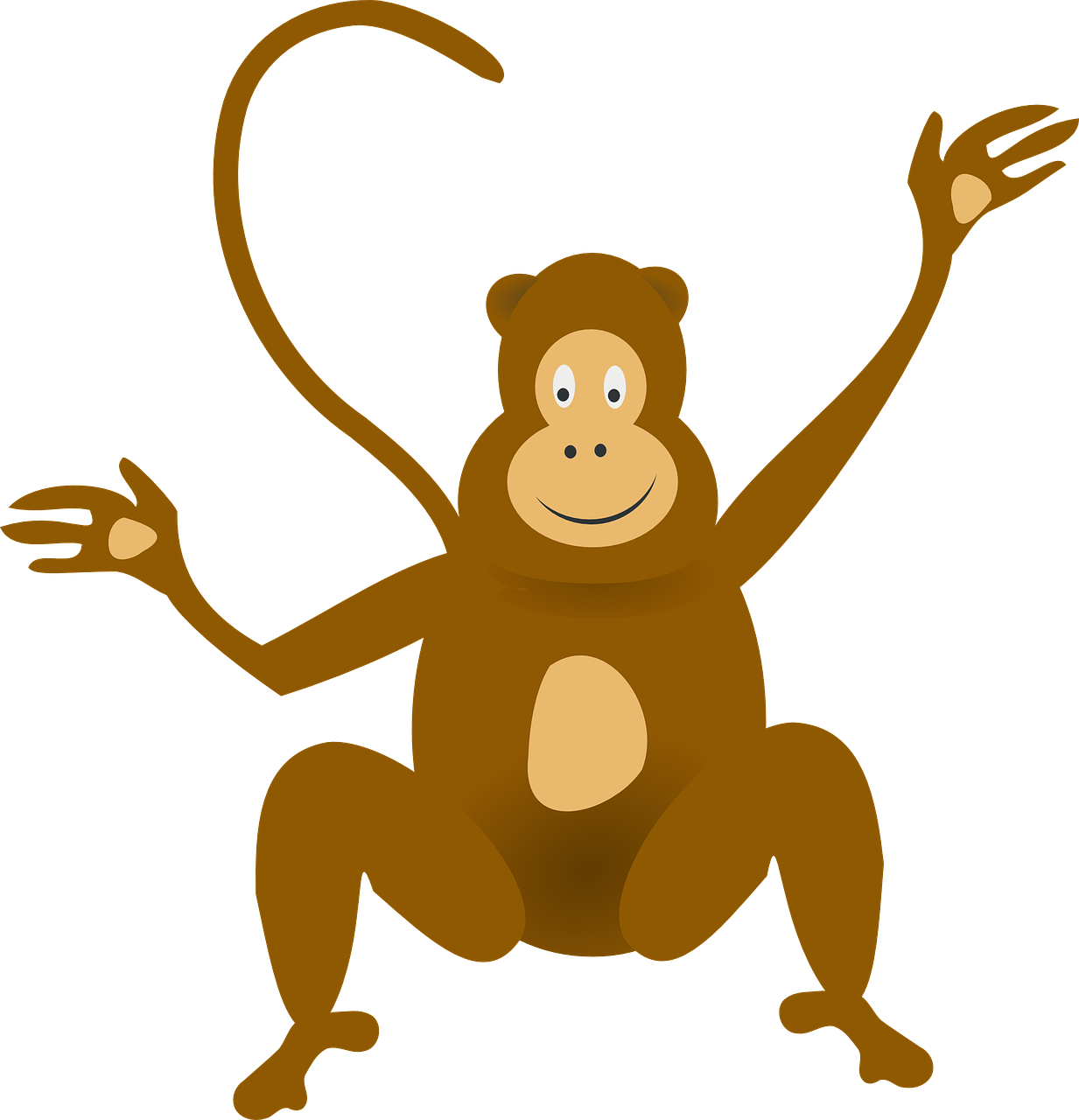 svg Monkey Jungle Ape Clip art