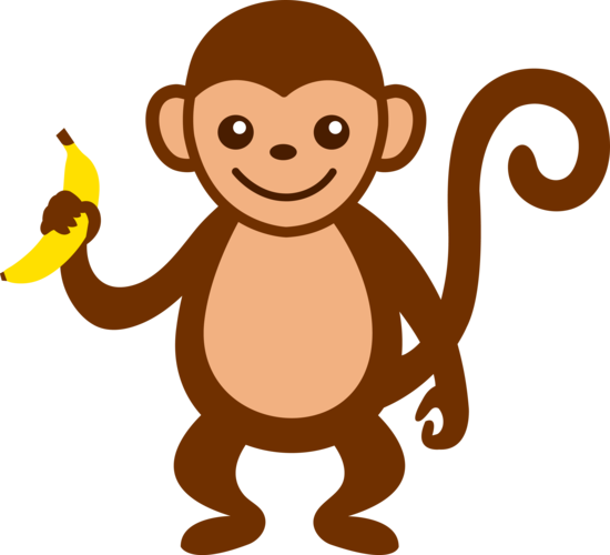 clipart freeuse library Ape clipart brown. Free clip art of