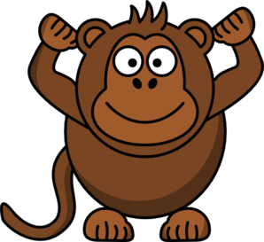 banner free stock Ape clipart brown. Monkey cliparts zone