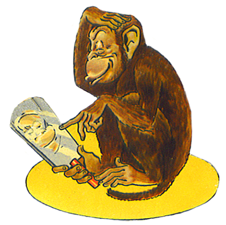 graphic freeuse download Ape clipart brown. Funny monkey drawings clip