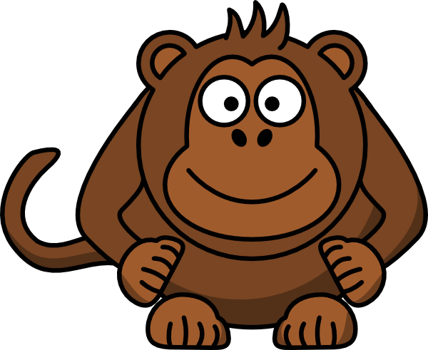 clipart royalty free stock Cartoon monkey clip art. Ape clipart brown