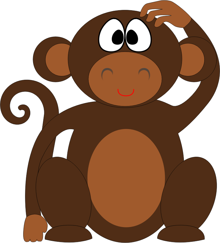 clipart freeuse Ape clipart cartoon. Monkey medium image png