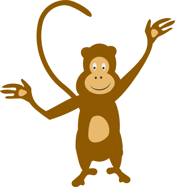 clip art royalty free stock Monkey Clip Art at Clker
