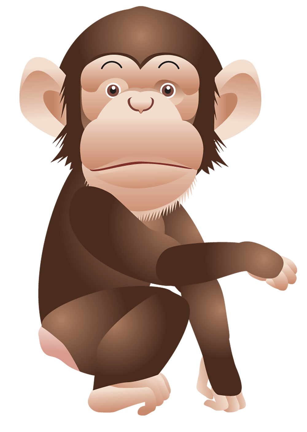 svg Monkey png animal pinterest. Ape clipart chimpanzee
