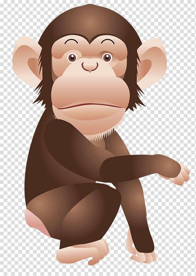 clip freeuse Monkey transparent background png. Ape clipart chimpanzee