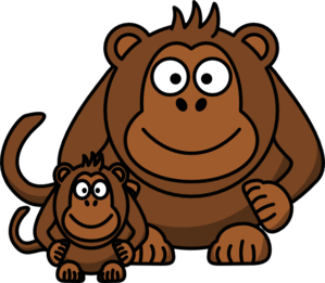 clip art freeuse download Ape clipart clip art. Baby at clker com