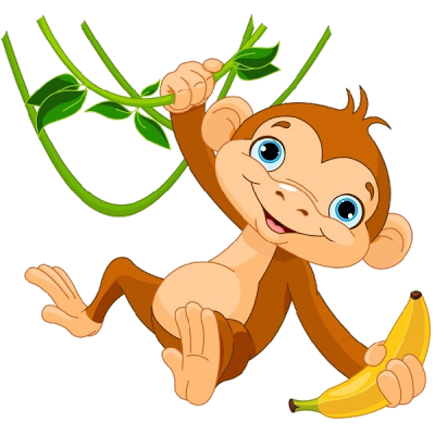 banner download Monkey clipart climb. Monkeys cartoon clip art.