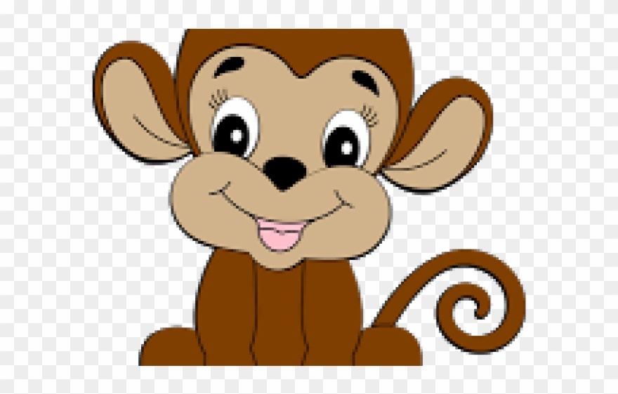 vector stock Ape clipart cute. Monkey baby png