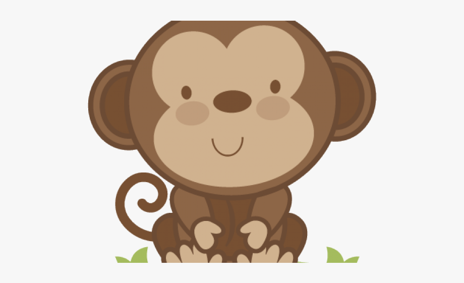 png free library Baby farm animal monkey. Ape clipart cute
