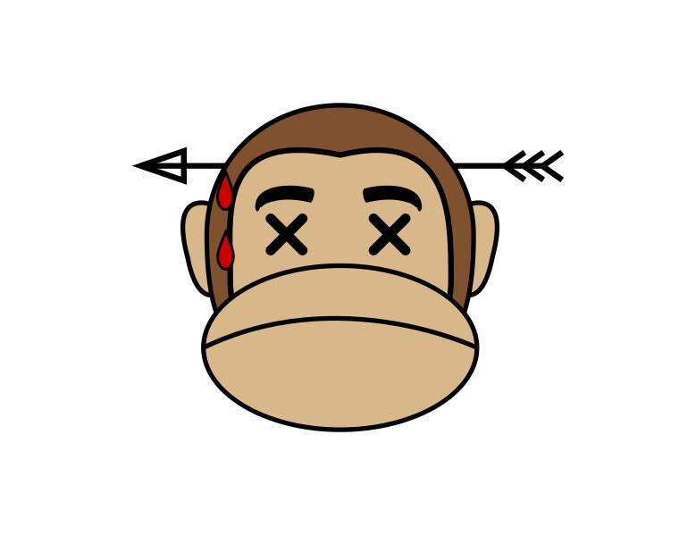 freeuse stock Transparent free . Ape clipart dead monkey