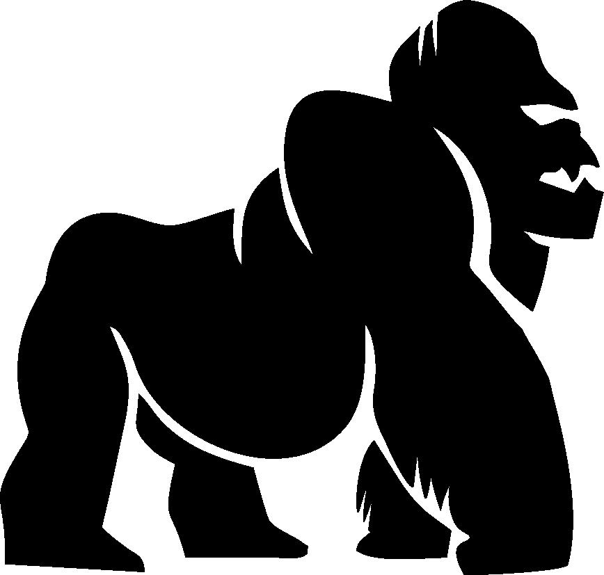vector Apparel metallic . Ape clipart female gorilla