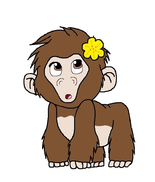 clip library library X free clip art. Ape clipart female gorilla