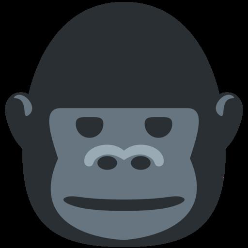 svg library stock Ape clipart female gorilla.  twitter twemoji