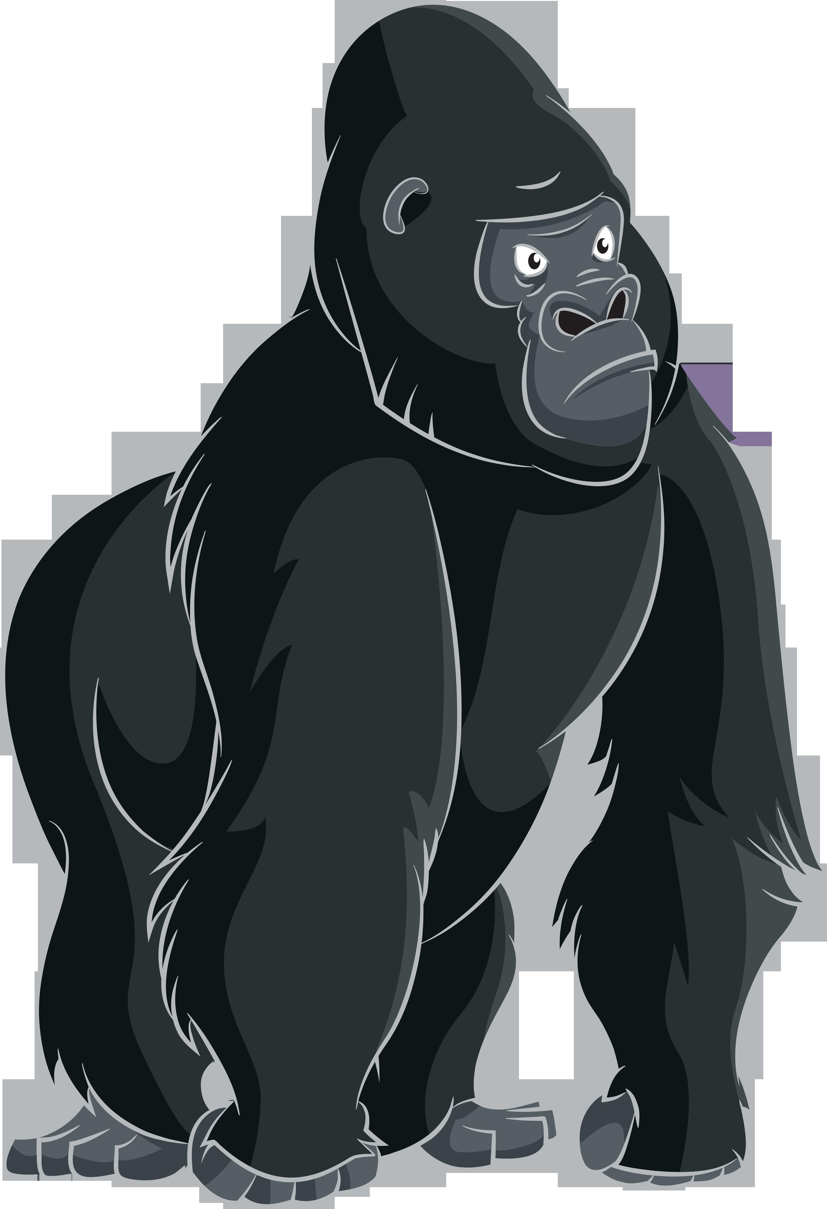 download Ape clipart gorilla. Cartoon clip art png