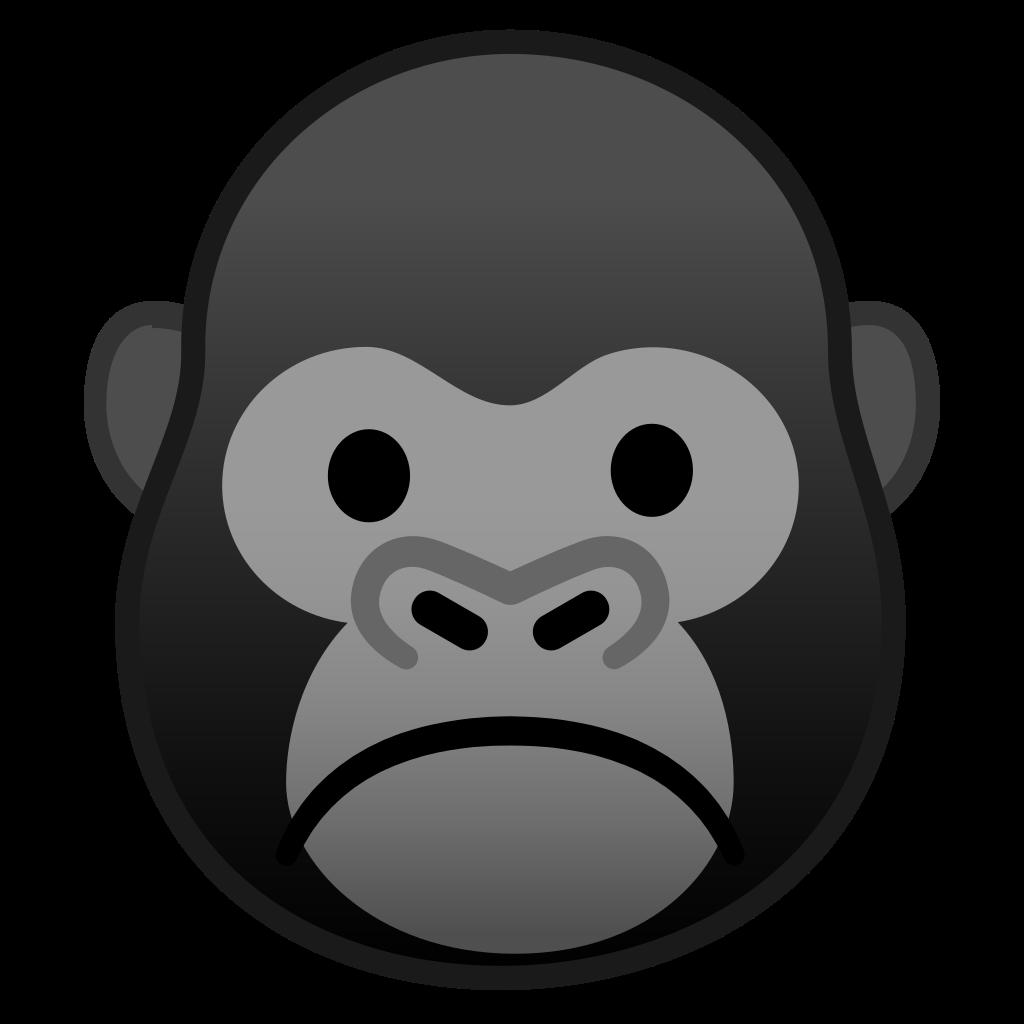 banner freeuse download Icon noto emoji animals. Ape clipart gorilla face