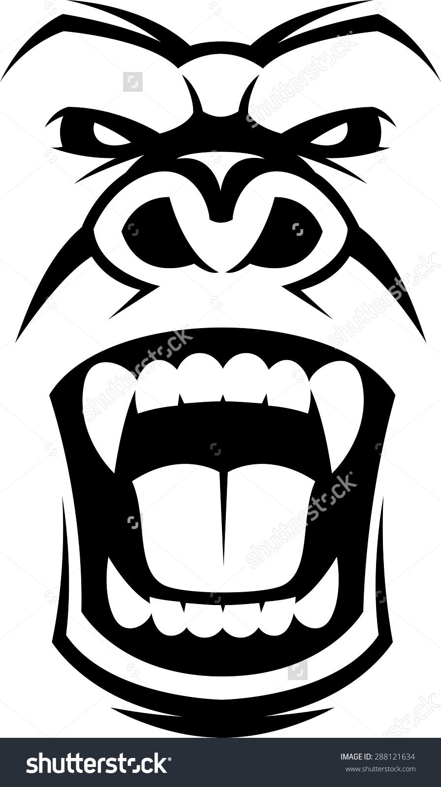 clipart transparent library Ape clipart gorilla face. Transparent free