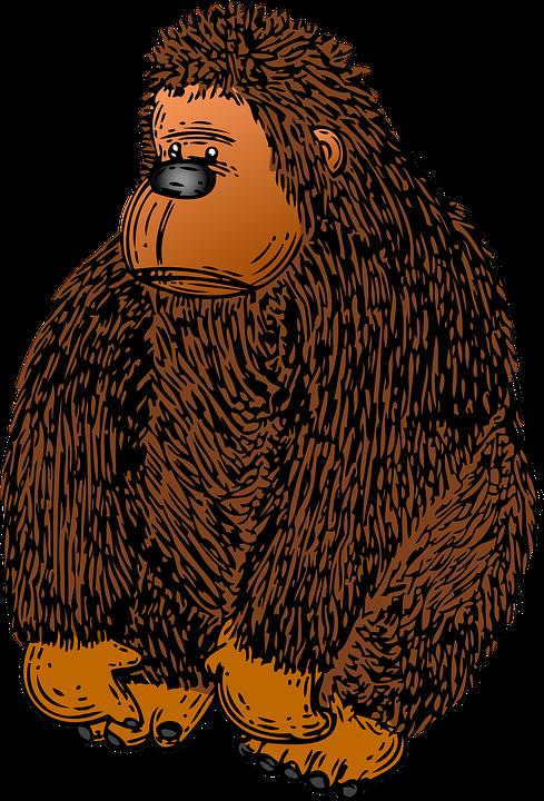 clip art library library Collection of free guerilla. Ape clipart gorilla family