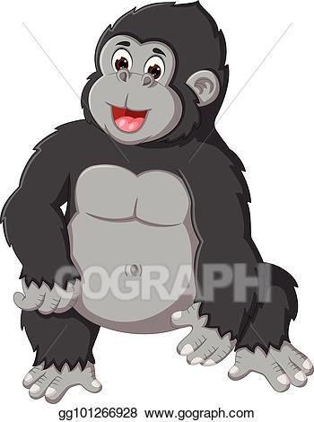 clip art freeuse Transparent . Ape clipart gorilla family