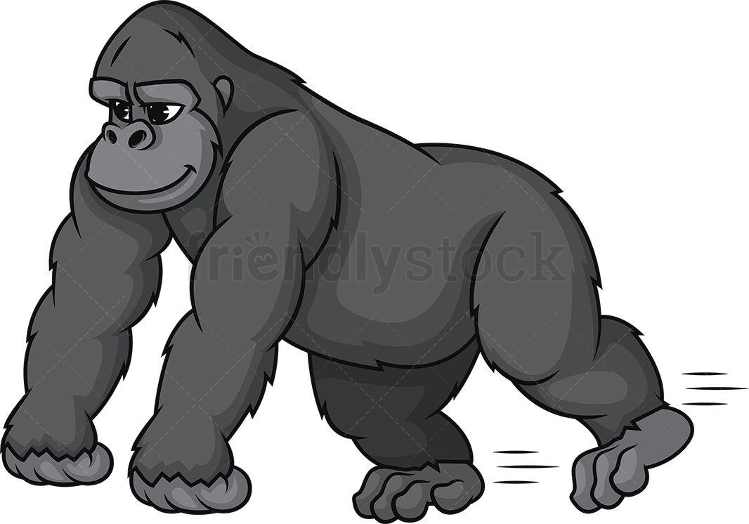 royalty free Ape clipart gorilla family. Running of animals cartoon