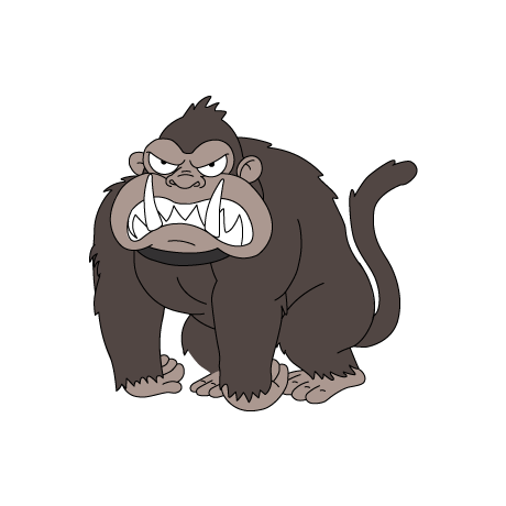graphic transparent library ape clipart gorilla family #76189304