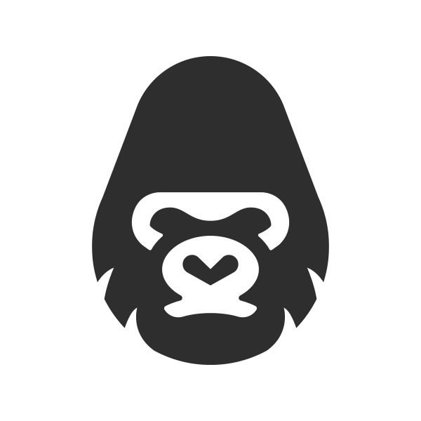 banner transparent The logo shop. Ape clipart gorilla head