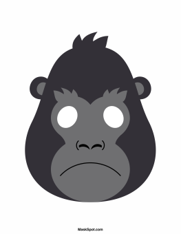 picture royalty free library Ape clipart gorilla mask. Transparent free