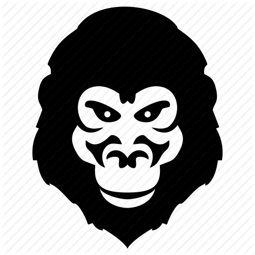 image library download Gorilla Face Silhouette at GetDrawings