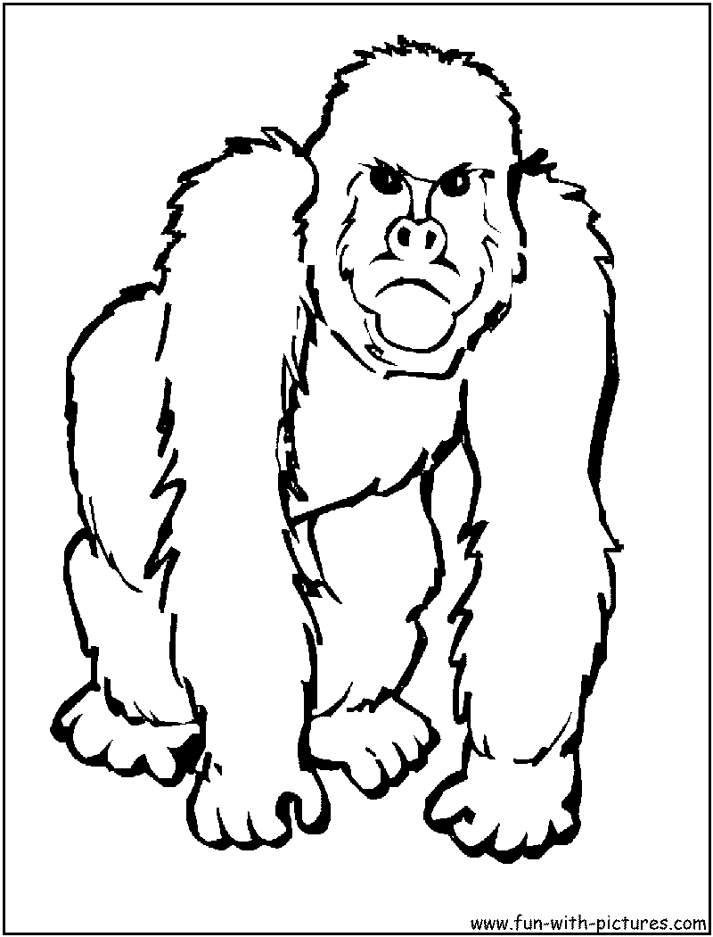 clip black and white library Transparent free for . Ape clipart guerilla