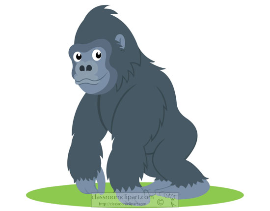 image royalty free stock Ape clipart guerilla. Free download clip art