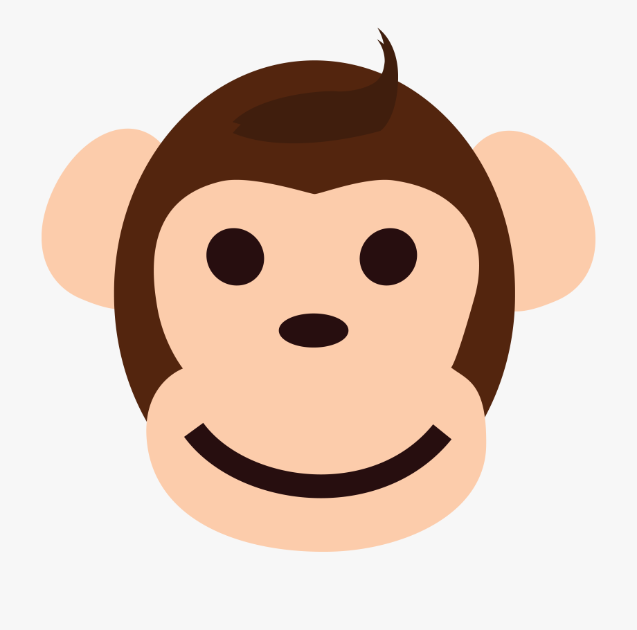 clip royalty free Ape clipart happy. Free of a monkey