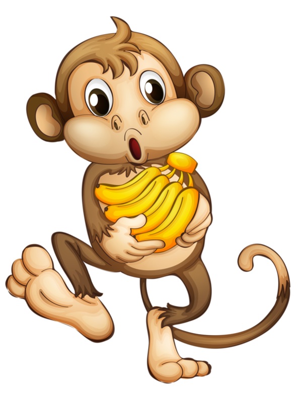 clip art free download Ape clipart happy. Singes png tubes animals