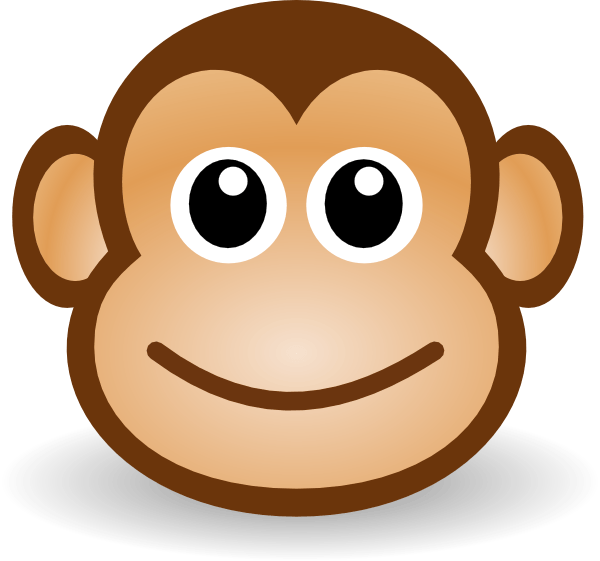 image freeuse download Monkey cliparts zone . Ape clipart happy