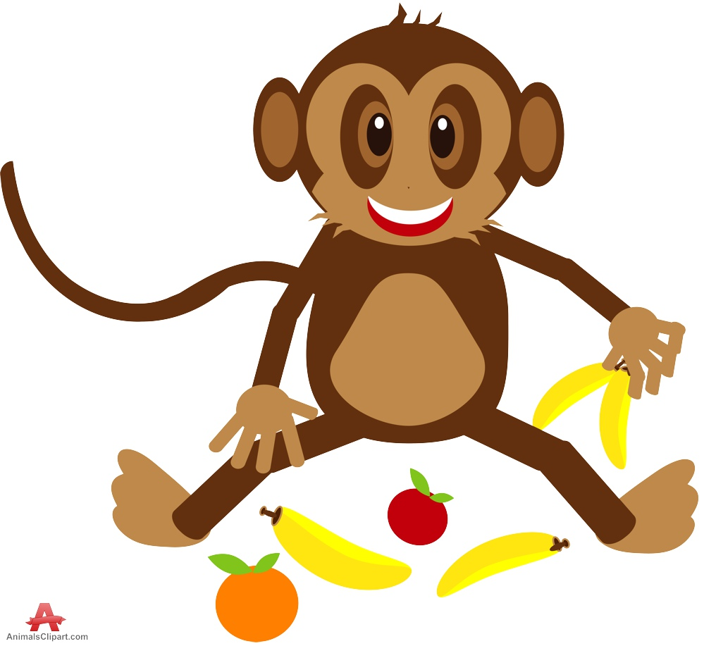 png freeuse library Free monkey cliparts download. Ape clipart happy