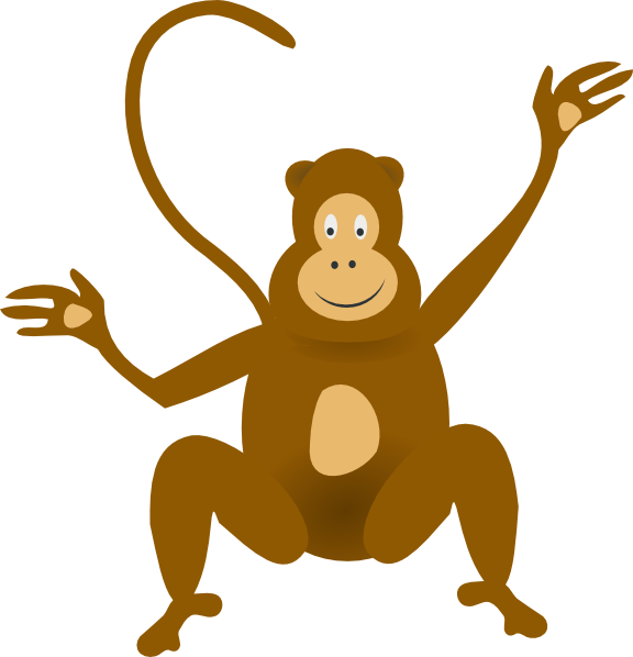 banner royalty free download Ape clipart happy. Monkey clip art at