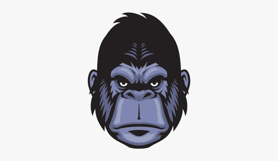 clip black and white library Mixed martial arts . Ape clipart jungle gorilla