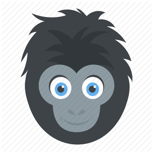 banner library stock Ape clipart jungle gorilla. Animal by vectors market