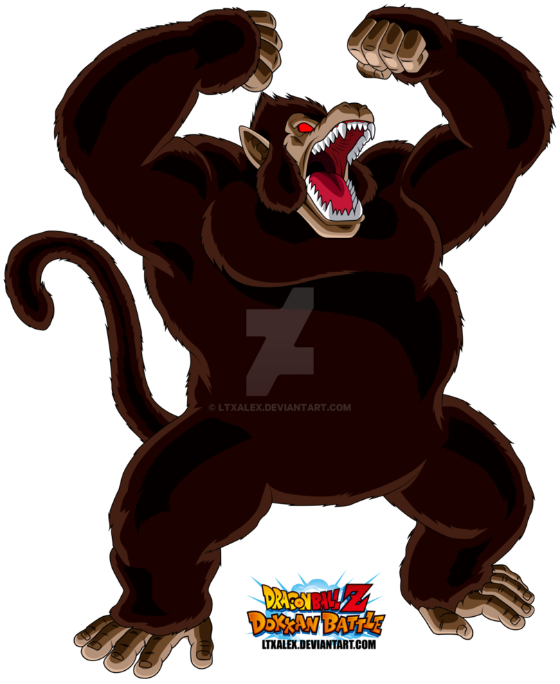 graphic library library  son goku giant. Ape clipart kid