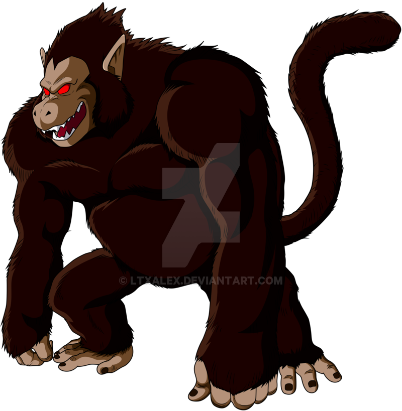 jpg free stock Ape clipart kid.  son goku giant