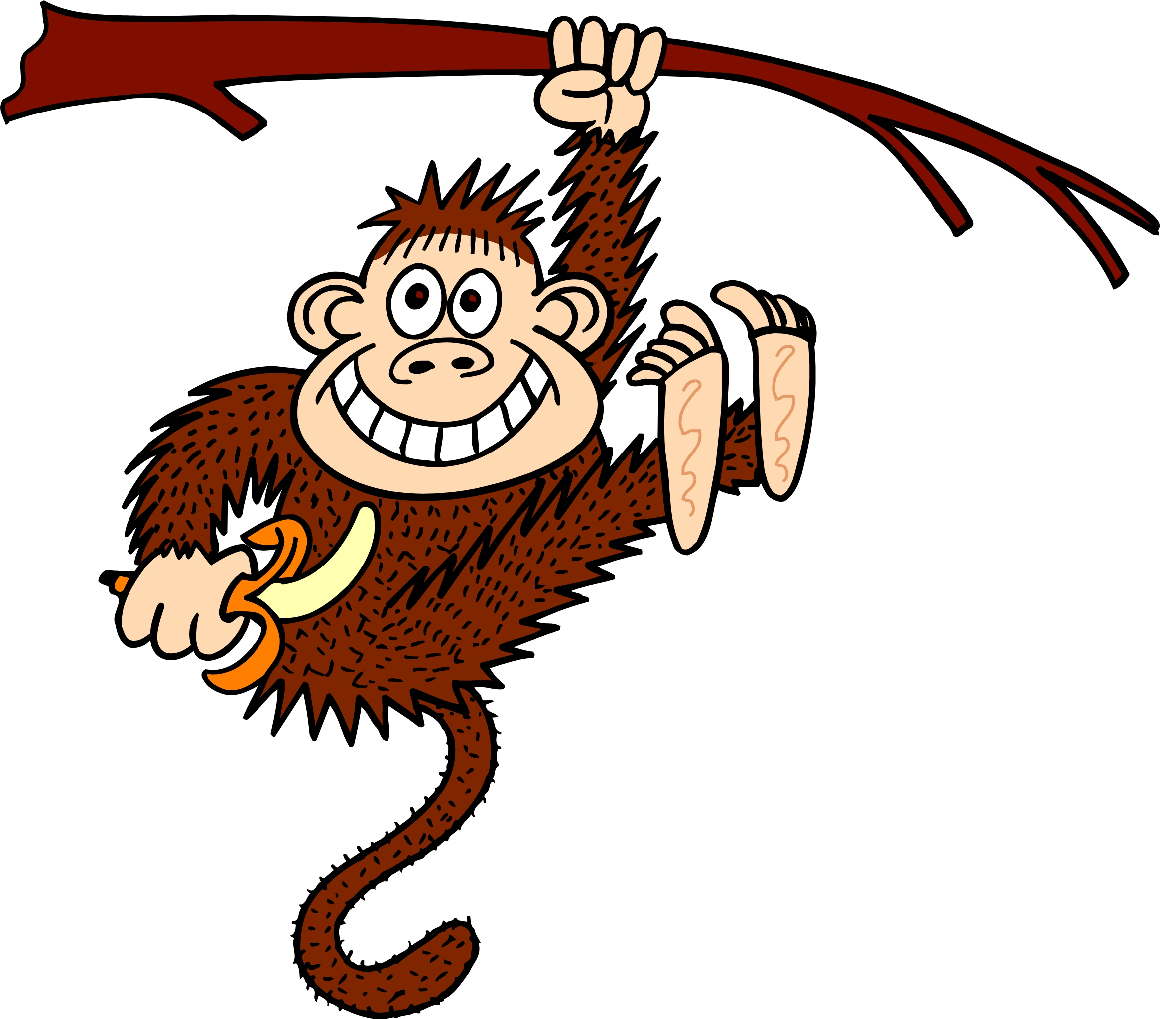 image freeuse stock Ape clipart kid. Free hanging monkey picture