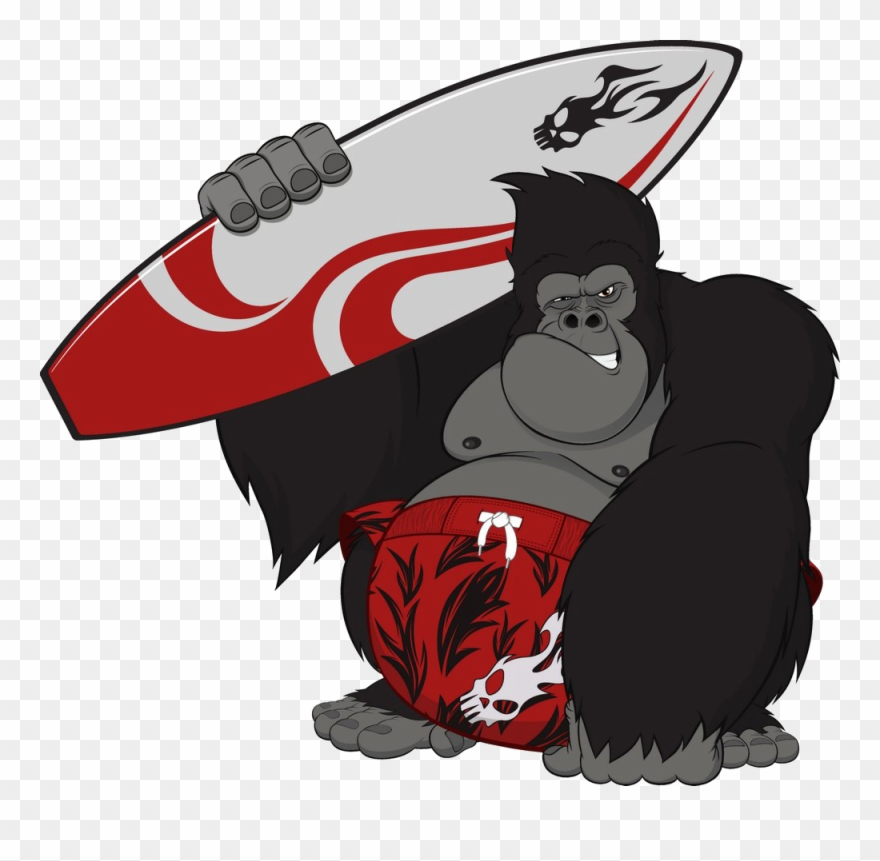banner freeuse library Graphic library gorilla . Ape clipart king kong