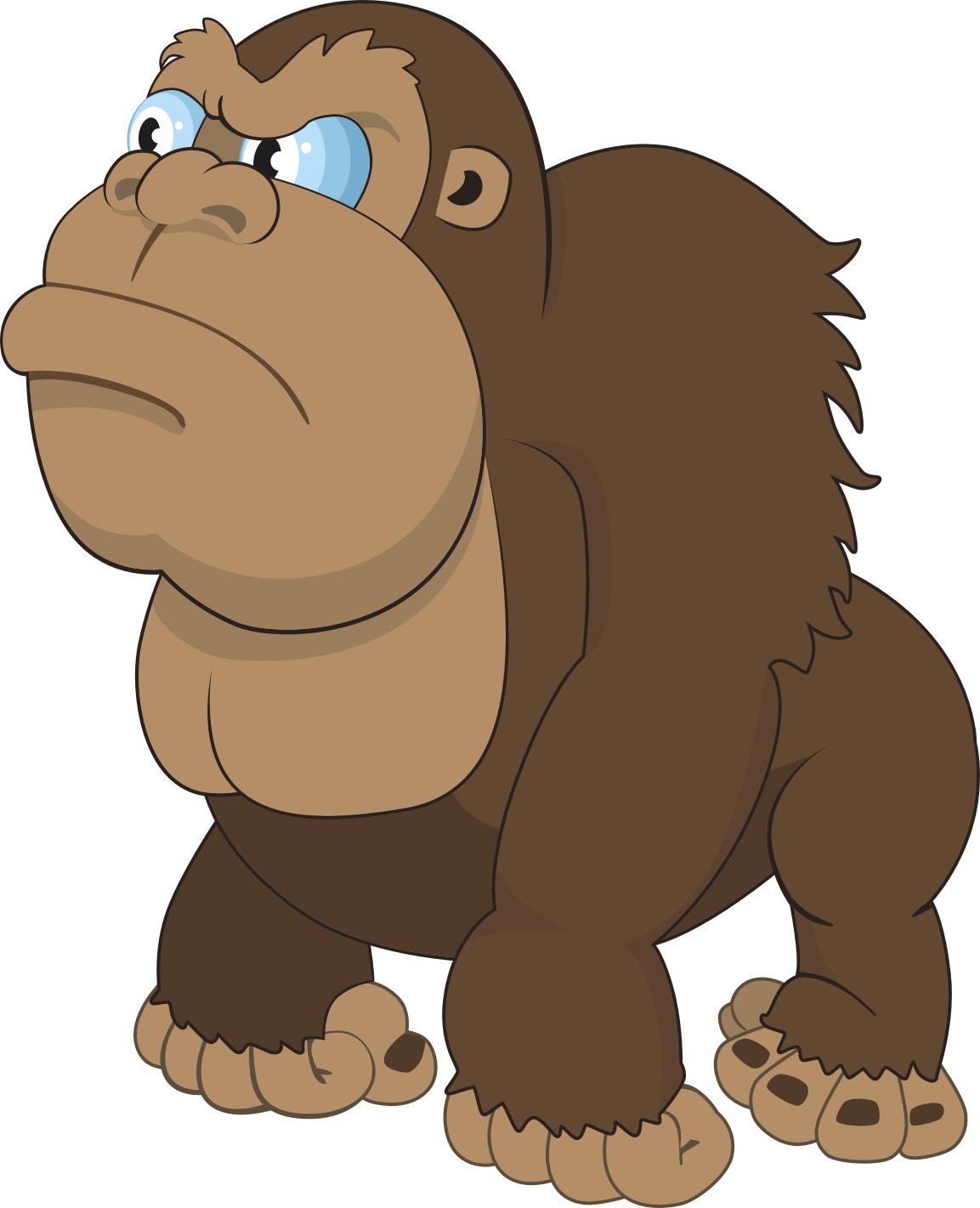 image royalty free library Ape clipart king kong. Gorilla cartoon drawing transprent