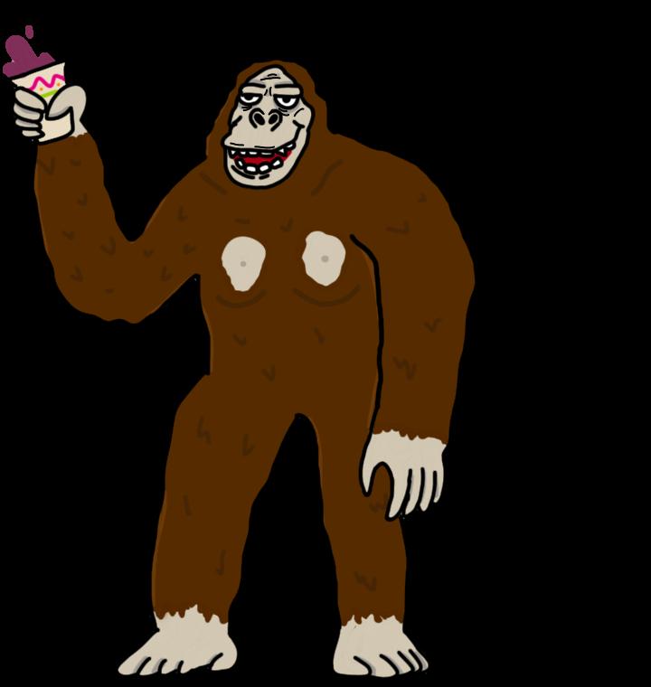 svg freeuse Ape clipart king kong. Kaiju week by missingno