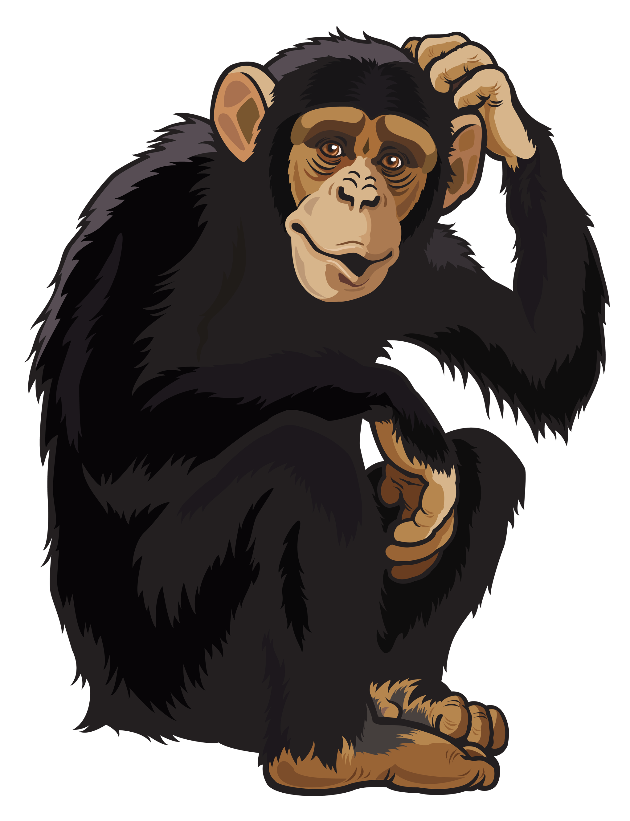 graphic black and white stock Monkey png images free. Ape clipart macaque