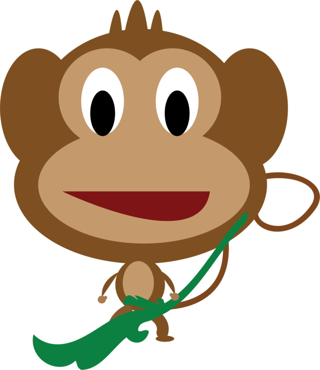graphic free stock Cartoon baby monkeys free. Ape clipart mammal