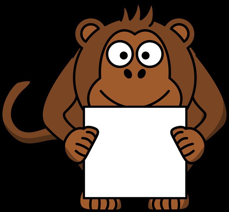 library Ape clipart mankey. Adorable monkey free photo