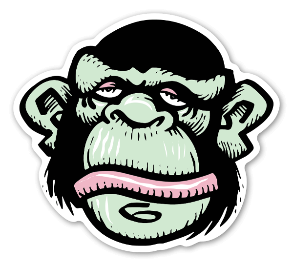 graphic library library Stickerapp bobby brown funky. Ape clipart mankey
